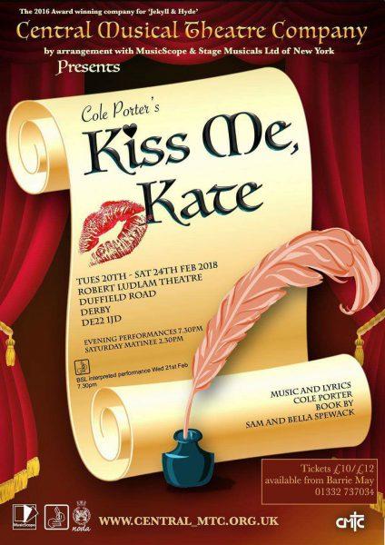 Kiss me, Kate poster